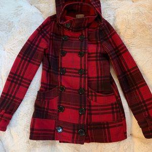 Jackets & Blazers - Red & black plaid classic coat